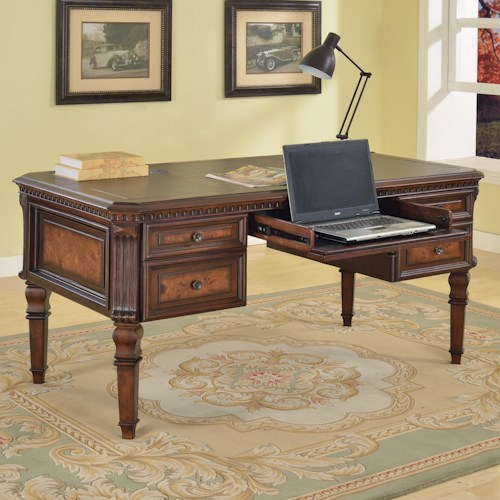 Parker House Corsica Writing Desk with Drop Down Center Drawer