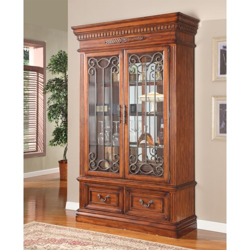 Parker House Granada Two-Piece Display Wall with Wrought Iron Frames