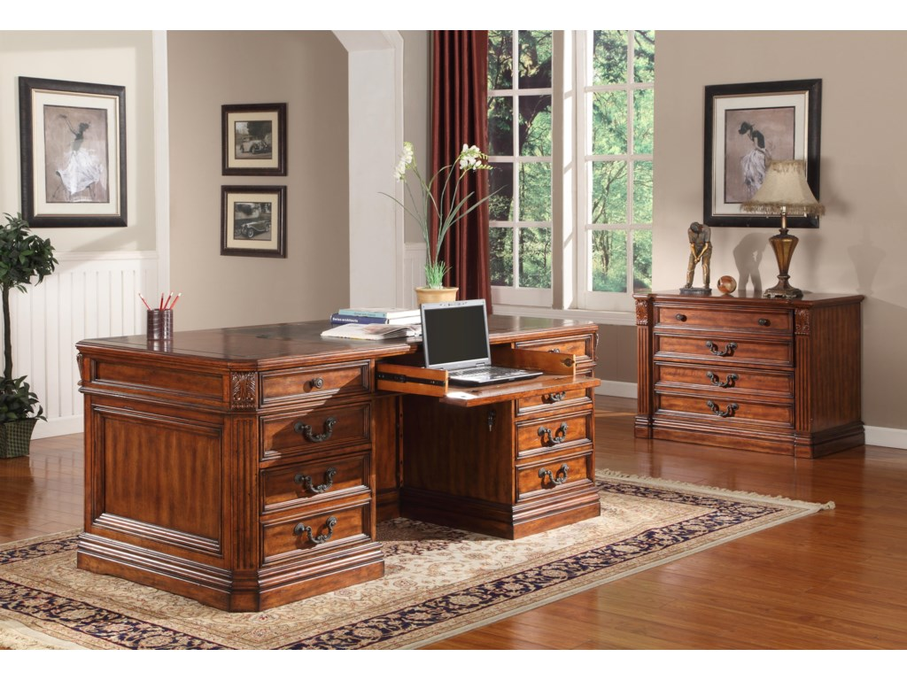 Shown with Double Pedestal Desk