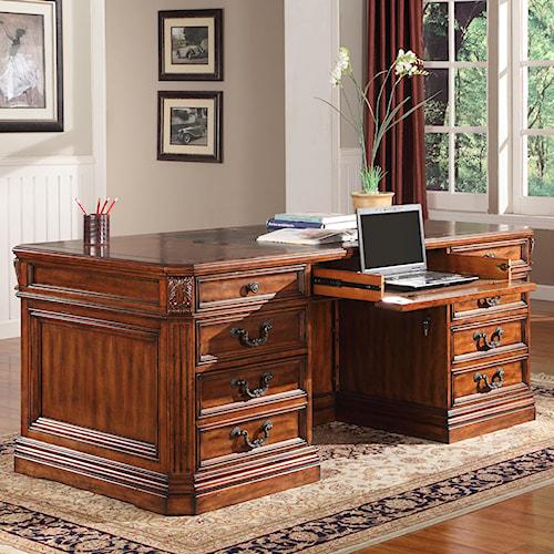 Parker House Granada Traditional Double Pedestal Executive Desk