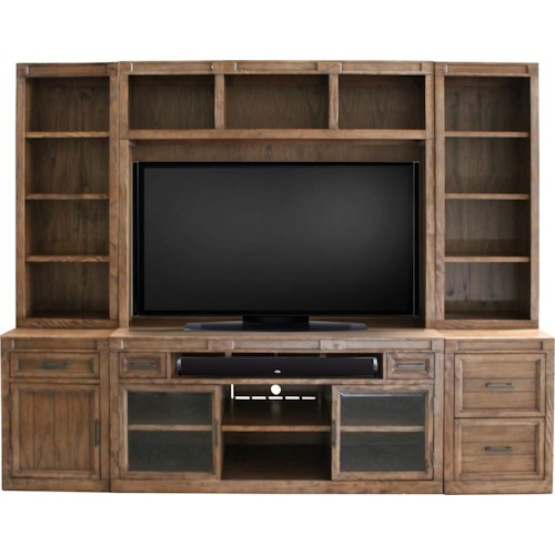 Morris Home Furnishings Hickory Hills 6 Piece Wall Unit
