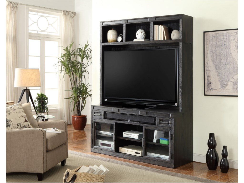 TV Console Shown with Hutch