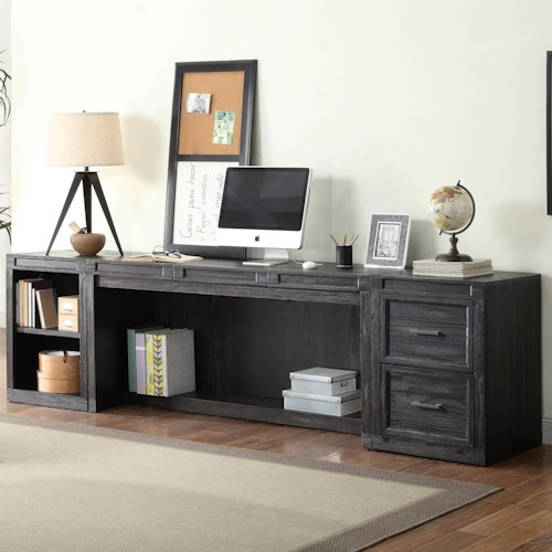 Parker House Hudson 3 Piece Desk with Printer Storage