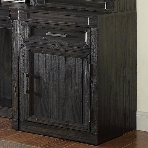 Parker House Hudson Desk Cabinet with Hidden Felt-lined Storage