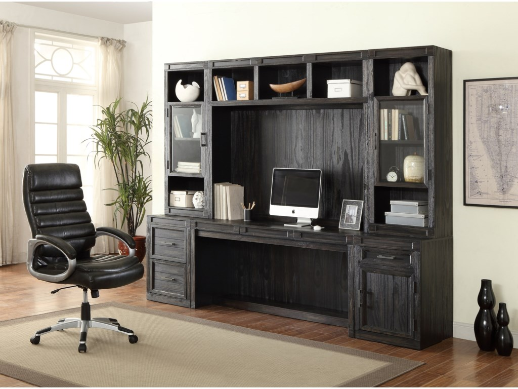 Desk Cabinet Shown with Desk and Hutch Set