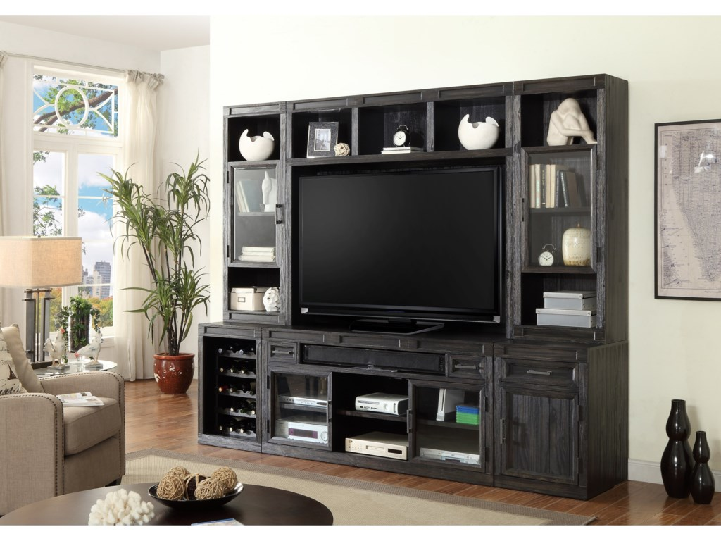 Wine Rack Shown in Entertainment Wall
