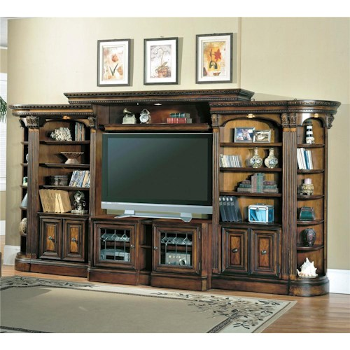 Parker House Huntington Open Bookcase Entertainment Center