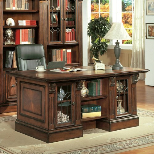 Parker House Huntington Double Pedestal Executive Desk
