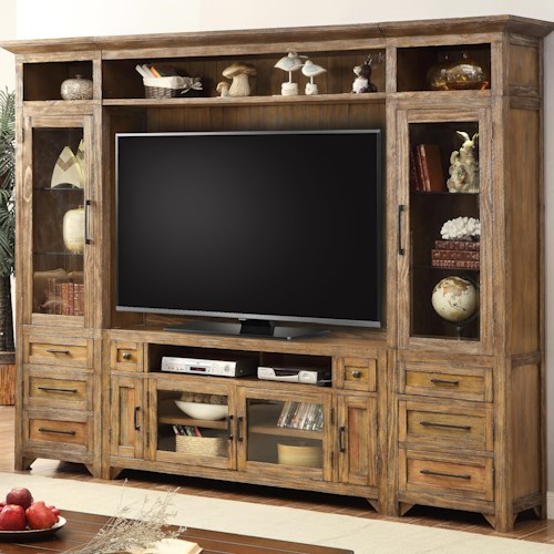 Parker House Hunts Point 5pc Storage Entertainment Wall