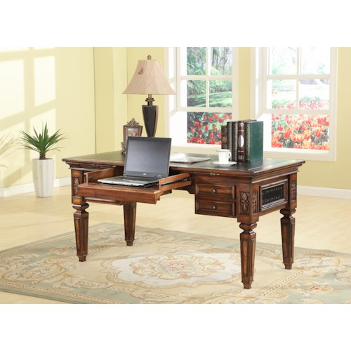 Parker House Leonardo Writing Desk with Drop Face Pencil Drawer