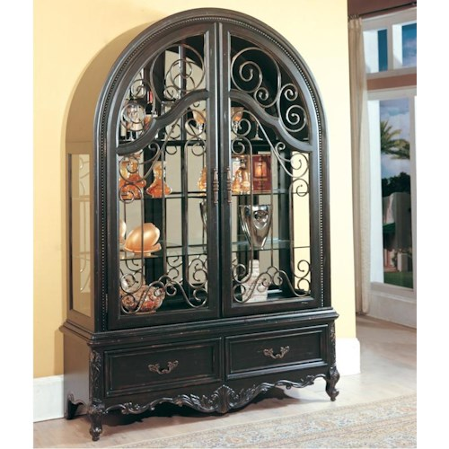 Parker House Palazzo  Double Door Collector's Cabinet with Arched Top