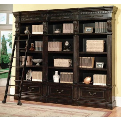 Parker House Palazzo  Triple Museum Bookcase Combination