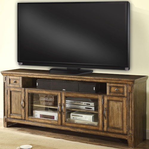 Parker House Riverbend TV Console with 4 Doors, 2 Drawers, and 1 Shelf