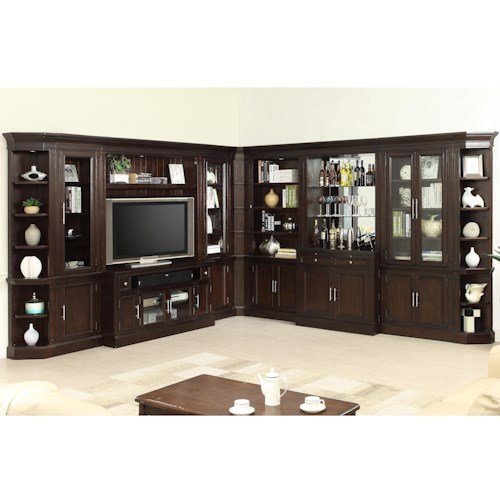 Parker House Stanford Wall Unit with Bar and TV Console