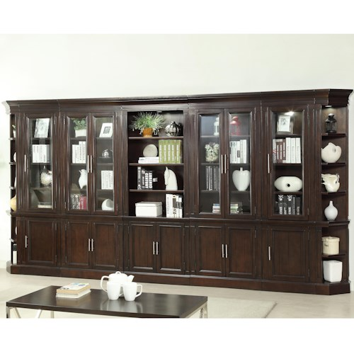 Parker House Stanford Wall Unit with 32 Shelves