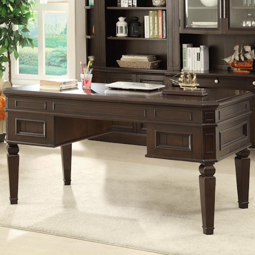 Parker House Stanford Writing Desk with 5 Drawers