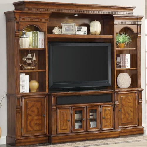 Parker House Toscano Entertainment Unit with 8 Shelves and 6 Doors