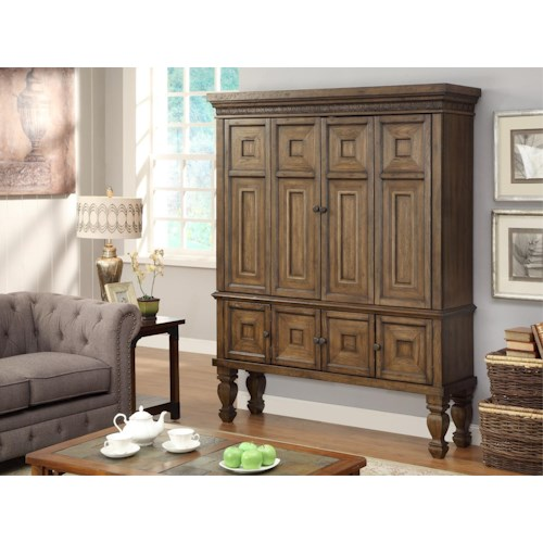 Morris Home Furnishings Valona - 2-Piece Entertainment Armoire
