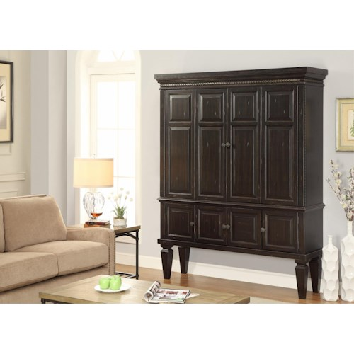 Morris Home Furnishings Valona 2-Piece Entertainment Armoire