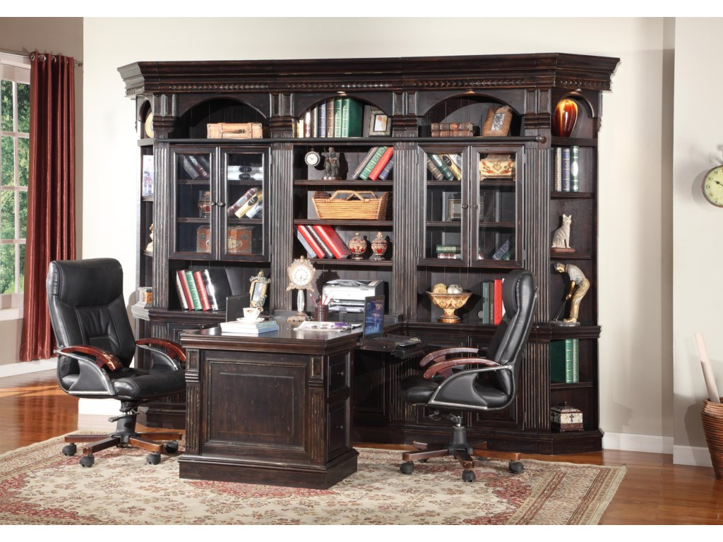 Shown with 32-Inch Bookcase, 32-Inch Glass Cabinet Bookcases and Outside Corner Units