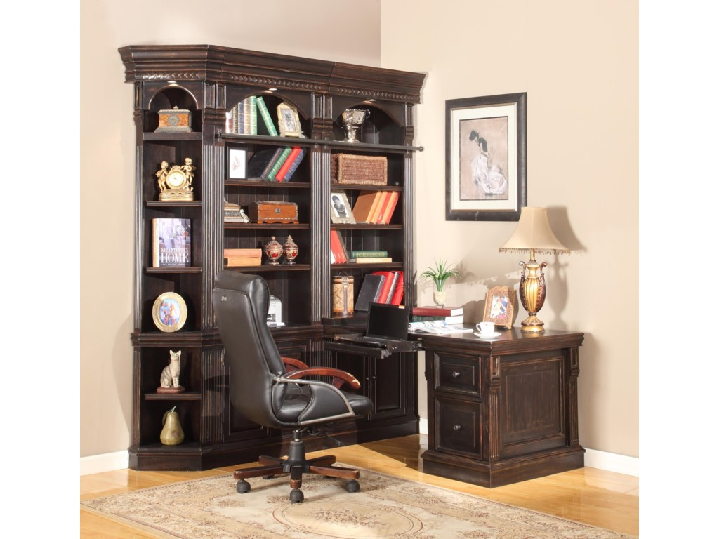 Shown with 32-Inch Bookcases and Outside Corner Unit