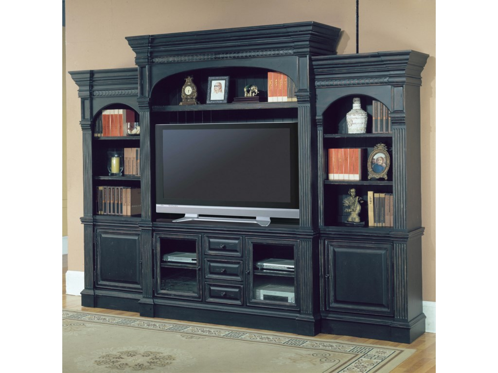 Shown as Part of Entertainment Wall Unit with Left and Right Piers