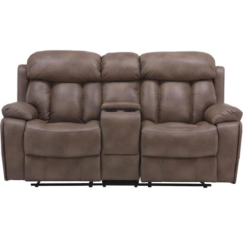 Parker Living Baron Casual Reclining Love Seat with Storage Unit and Cup Holders
