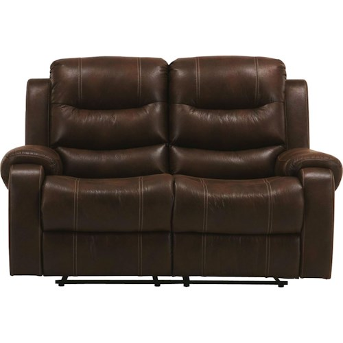 Parker Living Brahms Casual Reclining Loveseat with Bustle Back