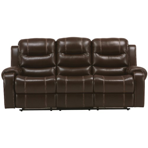 Parker Living Brahms Casual Dual Reclining Sofa with Full Chaise Seat Cushions