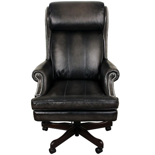 Parker Living Desk Chairs Executive Chair with Nail Head Trim