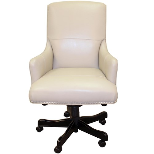 Parker Living Desk Chairs Executive Chair with Track Arms and Nail Head Trim