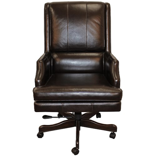 Parker Living Desk Chairs Executive Chair with Scooped Track Arms