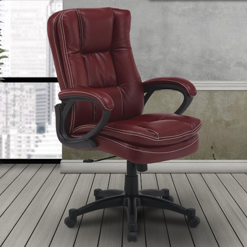 Parker Living Desk Chairs Contemporary Desk Chair with Rounded Arms