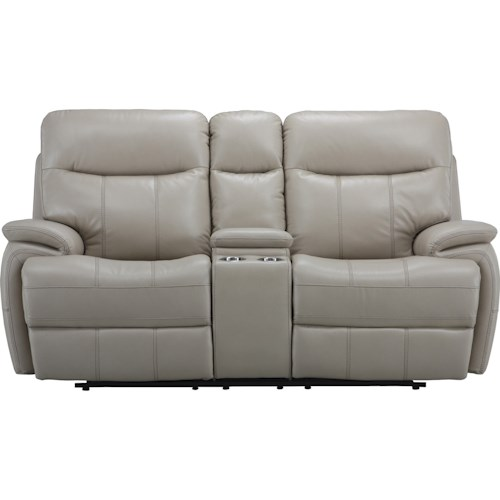 Parker Living Dylan Dual Recliner Power Console Loveseat with Cup Holders