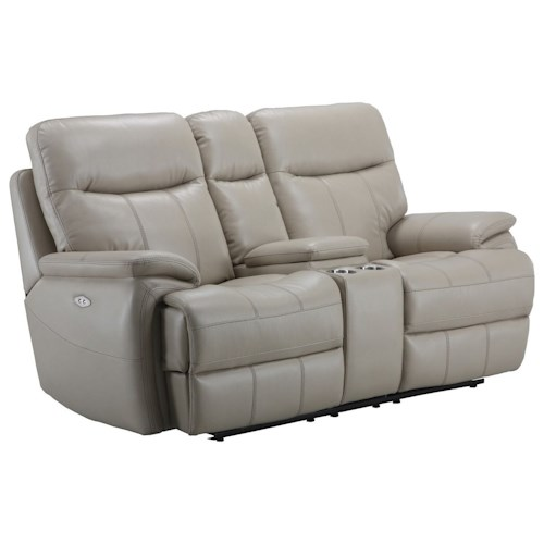 Parker Living Dylan Dual Recliner Power Loveseat with Pillow Arms