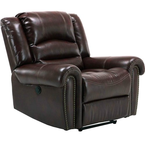 Parker Living Gershwin Transitional Power Recliner with Nailhead Trim