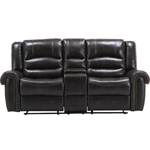 Parker Living Gershwin Transitional Power Reclining Console Loveseat with Rolled Arms