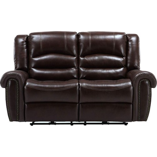 Parker Living Gershwin Transitional Power Reclining Dual Loveseat with Split Back