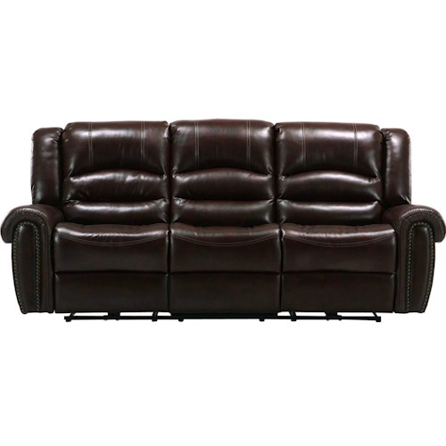 Parker Living Gershwin Transitional Power Reclining Dual Sofa with Split Back
