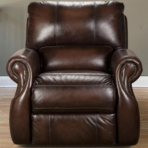 Parker Living Hawthorne Traditional Power Recliner with Rolled Arms