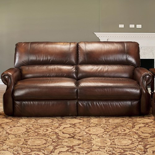 Parker Living Hawthorne Traditional Dual Power Reclining Sofa with Rolled Arms