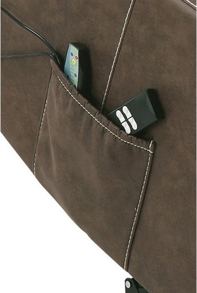 Side Storage Pocket, Corded Reclining and Lift Remote, Integrated Massage and Heat with Remote