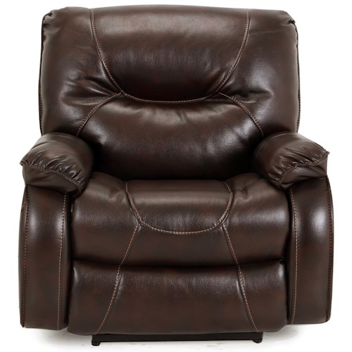 Parker Living Argus Argus Leather Match Power Recliner with Pillow Arms