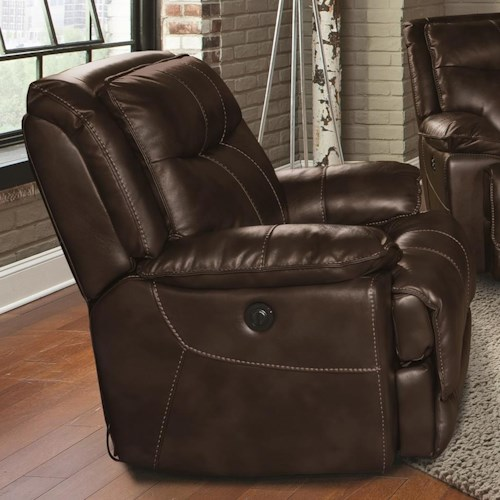 Parker Living Phoenix Casual Power Recliner with Pillow Arms