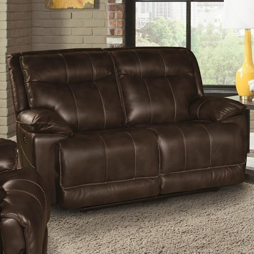 Parker Living Phoenix Casual Dual Power Reclining Loveseat with Full Chaise Cushion