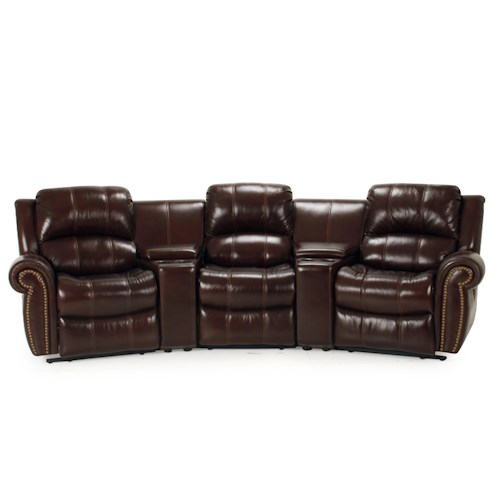 Parker Living Poseidon Transitional 5 Piece Power Reclining Sectional Sofa