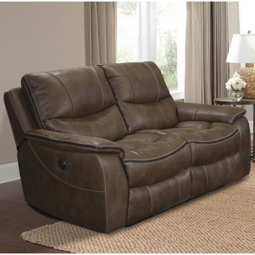 Parker Living Remus Casual Faux Leather Power Loveseat Dual Recliner