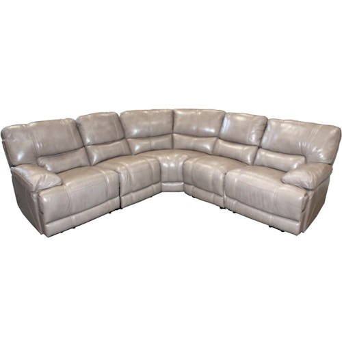 Parker Living Socrates Casual Sectional with Pillow Top Arms