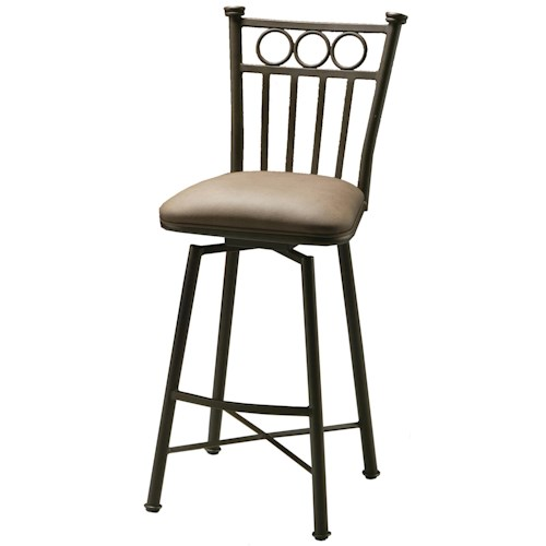 Pastel Minson Barstool Collection Bar Stool with Upholstered Seat and Slat Back