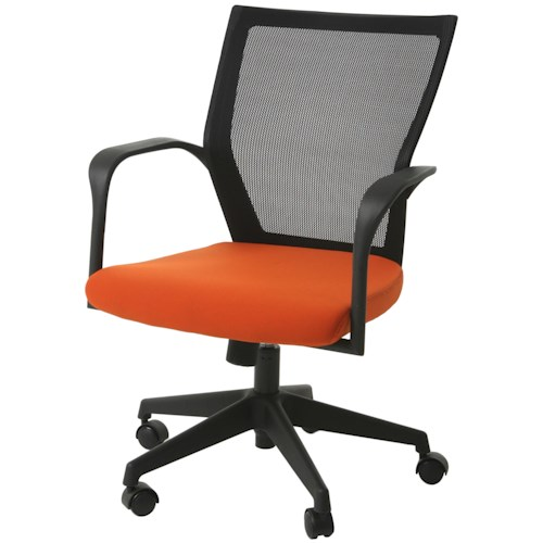 Pastel Minson Office Chairs Bozano Office Chair with Orange Seat
